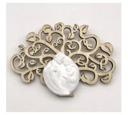 Farfalla porcellana argento