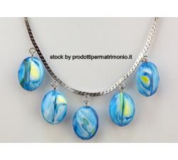 Portafoto resina forma stella con gufo azzurro CM 16