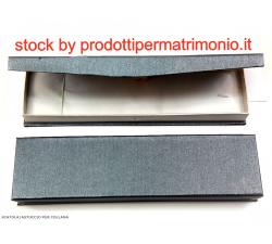 Gufo in resina argentata cm.8.5 con scatola