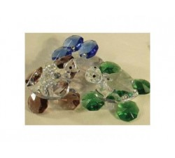 Cestino con manico in perle avorio