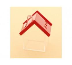 Casetta scatoletta house plexiglass 6x7 ROSSO SC349 Scatole Contenitori e Sacchettini 4,26€
