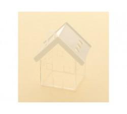 Casetta scatoletta house plexiglass 6x7 BIANCO SC346 Scatole Contenitori e Sacchettini 4,26€