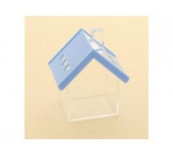 Casetta scatoletta house plexiglass 6x7 AZZURRO SC347 Scatole Contenitori e Sacchettini 4,26€