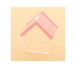 Casetta scatoletta house plexiglass 6x7 ROSA SC348 Scatole Contenitori e Sacchettini 4,26€