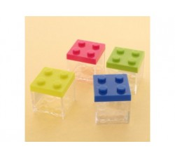 Cubo in plexiglass lego 5x5x5 - 4 colori assortiti SC313 Scatole Contenitori e Sacchettini 2,09€