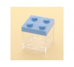 Cubo in plexiglass lego 5x5x5 AZZURRO SC311 Scatole Contenitori e Sacchettini 2,09€