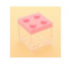 Cubo in plexiglass lego 5x5x5 ROSA SC312 Scatole Contenitori e Sacchettini 2,09€