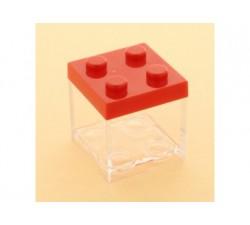 Cubo in plexiglass lego 5x5x5 ROSSO SC314 Scatole Contenitori e Sacchettini 2,09€