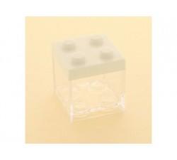 Cubo in plexiglass lego 5x5x5 BIANCO SC310 Scatole Contenitori e Sacchettini 2,09€