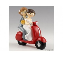 Cake topper sposi girls in vespa cm17 Y961 Cake Topper 25,62 €
