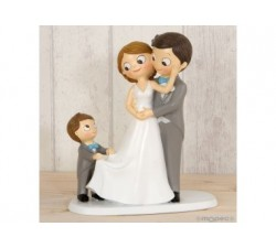Cake topper sposi con bambino Y615.3 Cake Topper 34,16€