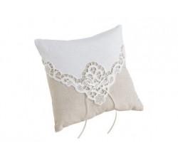 Cuscino sabbia e bianco in cotone LRRP880 Cuscini fedi 24,79€