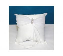 Cuscino per le fedi bianco con strass centrali 1330 Cuscini fedi 30,93€