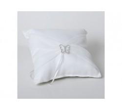 Cuscino bianco con farfalla DISC.715001 Cuscini fedi 16,75€