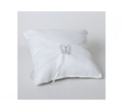 Cuscino bianco portafedi con farfalla 1320 Cuscini fedi 30,93€