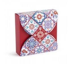 Scatolina portaconfetti motivo ceramica bordeaux DD.83BFB00300 Bomboniere 0,60€