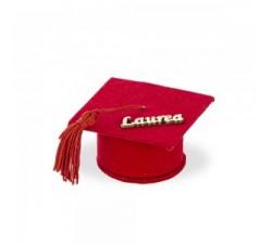 Cappello bomboniera laurea con scritta DD.12SC503 BOMBONIERE 1,90€