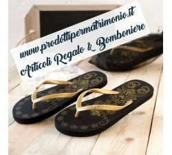 Sandalo infradito nero con sacchetto taglia M MO.A714 Gadget 10,00€