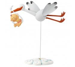 Figura decorativa per torte , cicogna con fagottino MO.G3013.02 Bomboniere 18,00€