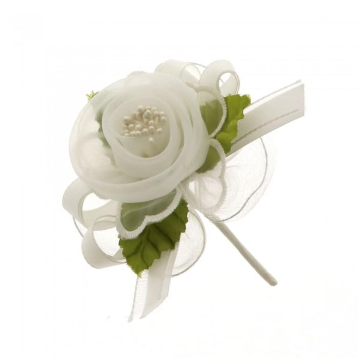 Fiore Poetico con racchette portaconfetti BIANCO