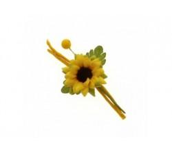 Fiore girasole ramo cm 12 B0630 Fiori 1,16€