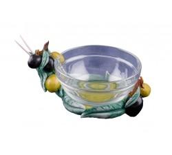 Ciotola Vetro Con Stuzzicadenti & Olive PR.CIOTOLA Gadget 3,34€