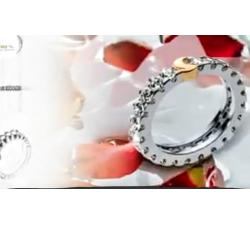 Anello eternity in oro bianco e oro rosa con brillanti MG.03 GIOIELLERIA 2.300,00€