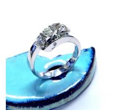 Anello quadrilogy in oro bianco con diamante taglio brillante totali Kt 1.00 wws F MG.00 GIOIELLERIA 2.950,00€