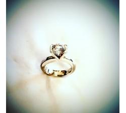 Anello in argento 925 con pietra zircone taglio brillante da Kt 1.00 MG.005 Gioielleria 150,00€