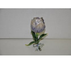 Tulipano metallo smaltato e strass con petalo apribile H 10 GB.G2324 Bomboniere 7,00€