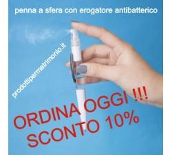 PENNA CON EROGATORE ANTIBATTERICO ...SCONTI !!! CF. 009 GADGET 0,90€