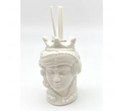 Profumatore porcellana bianco TESTA DI MORO DONNA 9 cm CBR21 BOMBONIERE 4,00€