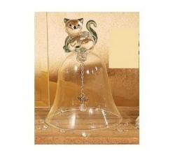 Campanella vetro gattino cm h 8.5 15048 Cristallo 13,54€