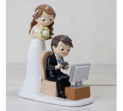 Cake topper sposa arrabbiata sposo video game Y319 Cake Topper 32,94 €