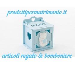 SCATOLA PORTACONFETTI BATTESIMO IR. 0001 Home 2,00€