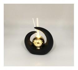 Profumatore Mezza luna con LUCE LED NERO E ORO 12 cm BOMBONIERA L2L21/L2102 BOMBONIERE 10,99€