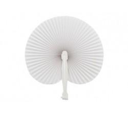 100 pz Ventaglio plastica e carta Bianco 3132B Ventagli 81,86€