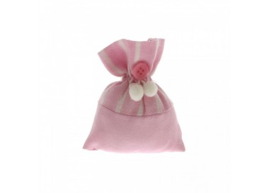 Sacchettino bag rosa a righe bianco cm 8x10 C1790 Sacchettini 1,27€