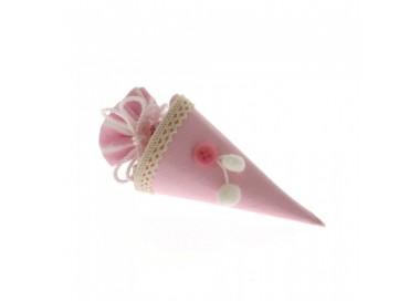 Sacchettino cono rosa a righe bianco cm 14 C1794 Sacchettini 1,87€