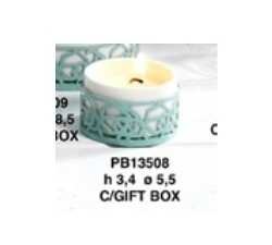 PORTACANDELA 5.5CM PORCELLANA E METALLO CON SCATOLA PB13508 Porcellana e Ceramica 4,64€
