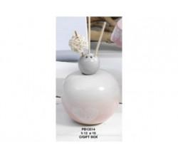 DIFFUSORE DI PROFUMO SFUME' ROSA 12 CM PORCELLANA CON SCATOLA PB13514 Porcellana e Ceramica 14,03€