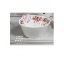 CIOTOLA CON CUORI 11.5 CM. PORCELLANA CON SCATOLA PB14318 Porcellana e Ceramica 7,56€