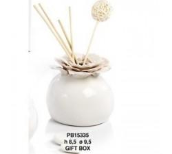 DIFFUSORE DI PROFUMO FIORI ROSA 9.5 CM. PORCELLANA PB15335 Porcellana e Ceramica 14,64€