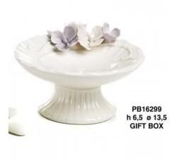 ALZATA CON FIORI 13.5 CM. PORCELLANA PB16299 Porcellana e Ceramica 16,47€