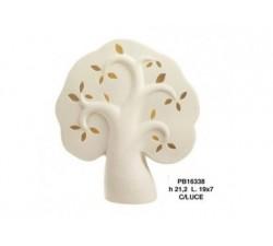 ALBERO STILIZZATO AVANA 21.2 CM. PORCELLANA CON LUCE PB16338 Porcellana e Ceramica 16,96€
