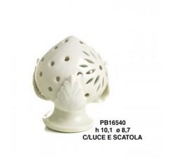 PUMO BIANCO 10.1 CM. PORCELLANA CON LUCE G.BOX PB16540 Porcellana e Ceramica 14,64€